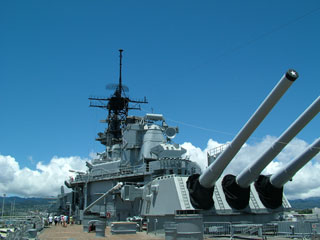 Battleship Missouri (Mighty Mo) a floating museum at Ford Island, Hawaii